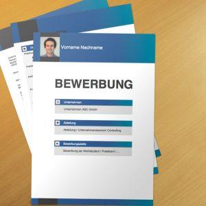 Bewerbungsvorlage Blue Boxes
