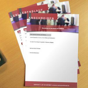 Bewerbung Bewerbungsvorlage Flyer Red Anschreiben