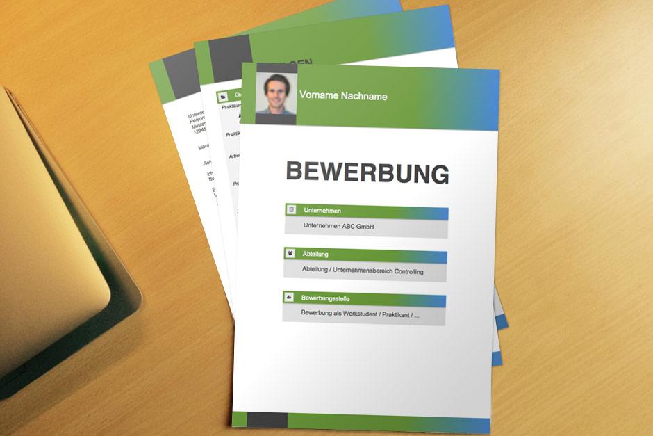 Bewerbungsvorlage Green Boxes