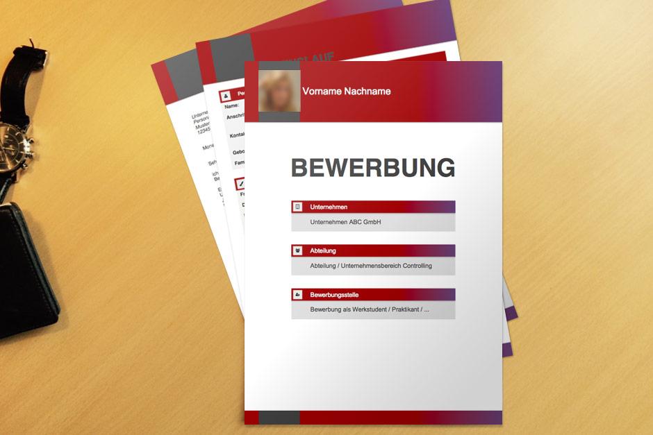 Bewerbungsvorlage Red Boxes