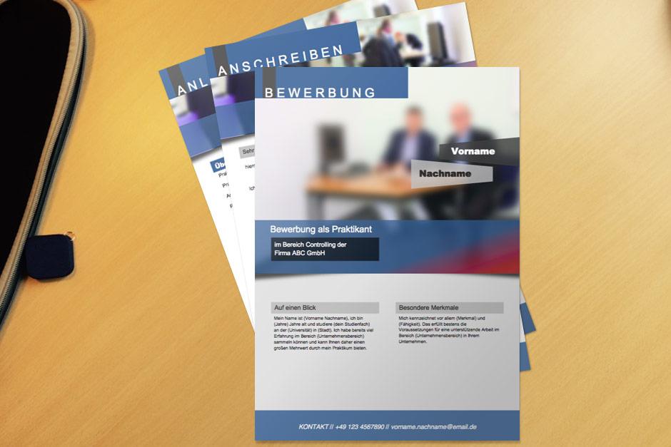 Bewerbungsvorlage Blue Flyer