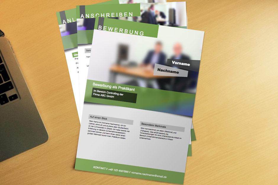 Bewerbungsvorlage Green Flyer