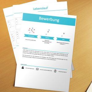 Bewerbungsvorlage Blue Infografik