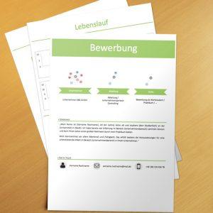 Bewerbungsvorlage Green Infografik