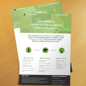 Bewerbungsvorlage OnePage Green