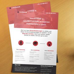 Bewerbungsvorlage OnePage Red