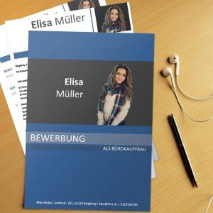 Bewerbungsvorlage Office Blue