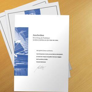 Bewerbungsvorlage Blue Architecture
