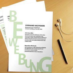 Bewerbungsvorlage Green Letter