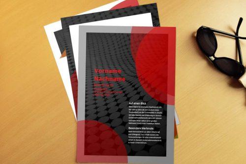 Bewerbungsvorlage 3D Red
