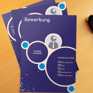 Bewerbungsvorlage Blue Bubbles
