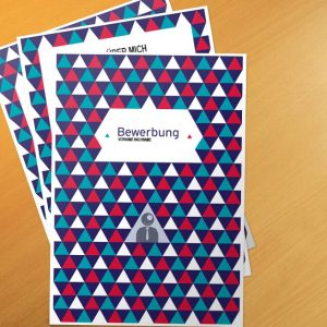 Bewerbungsvorlage Blue Schoolbook