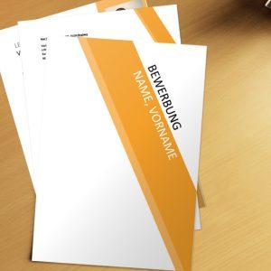 Bewerbungsvorlage Classic Orange Lines