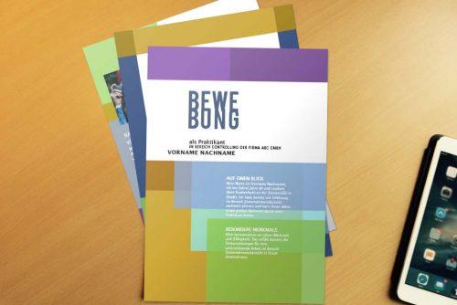 Bewerbungsvorlage Colored Overlay