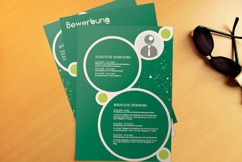 Bewerbungsvorlage Green Bubbles