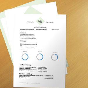 Bewerbungsvorlage Green Forms