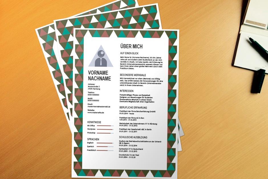 Bewerbungsvorlage Green Schoolbook