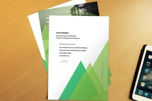 Bewerbungsvorlage Green Shape