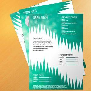 Bewerbungsvorlage Green Spiky