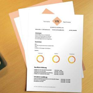Bewerbungsvorlage Orange Forms
