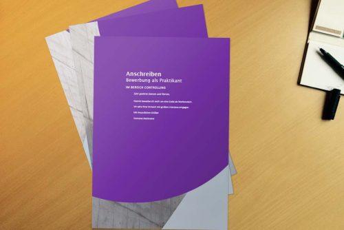 Bewerbungsvorlage Purple Wall