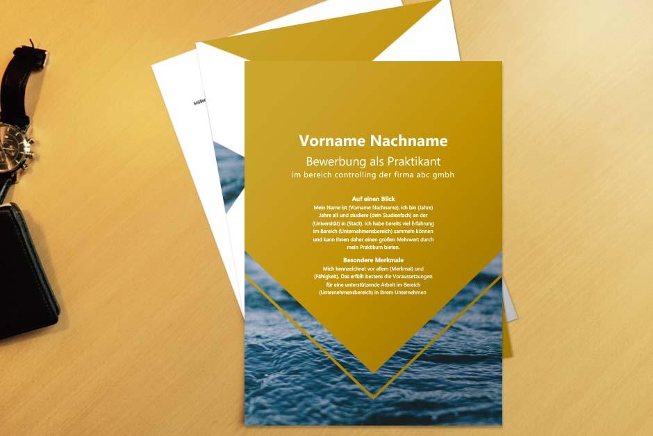 Bewerbungsvorlage Yellow Ocean