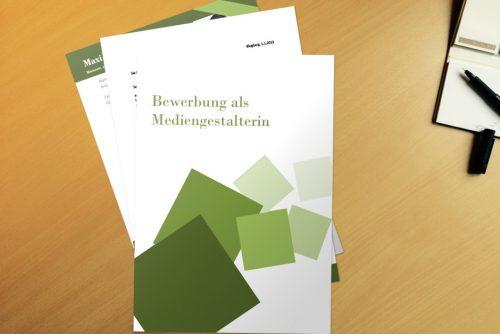 Bewerbungsvorlage Cubes Green
