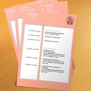Bewerbungsvorlage Pink Frame
