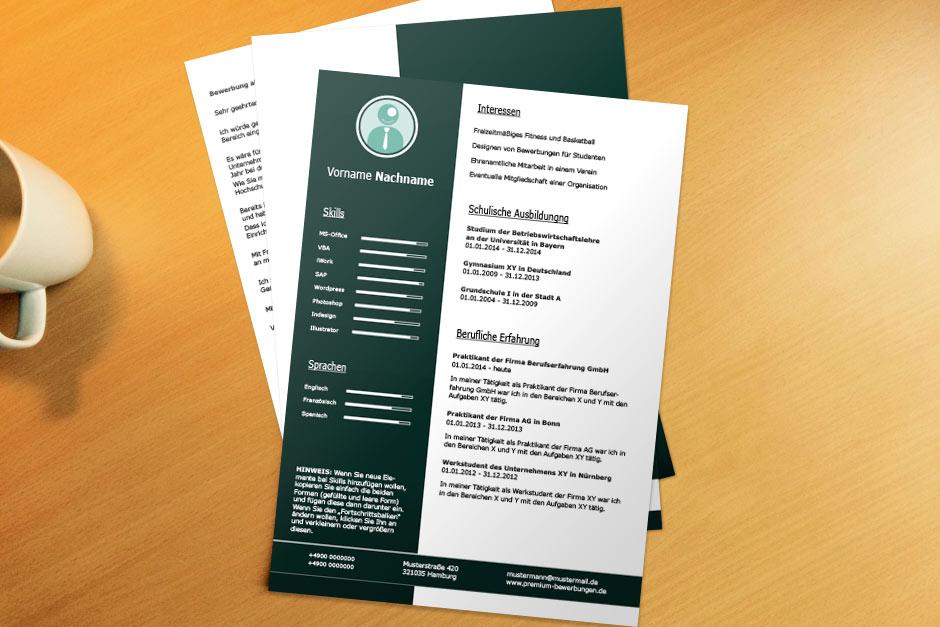 Bewerbungsvorlage Green Skills