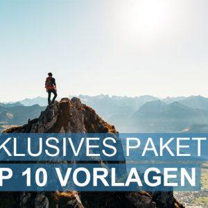 Exklusives Paket TOP 10 der Bewerbungsvorlagen
